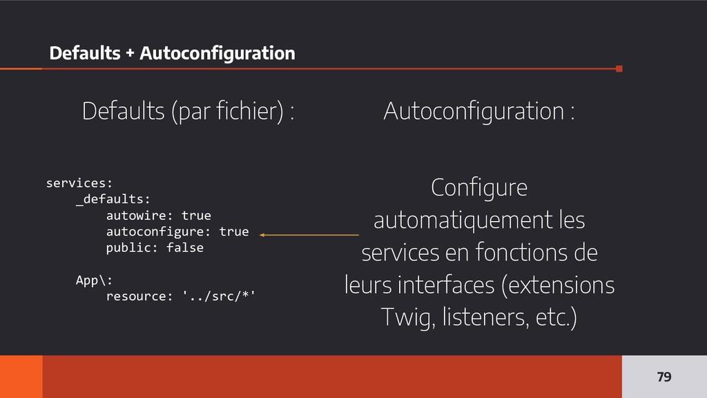 Defaults + Autoconfiguration 79 services: _defa...