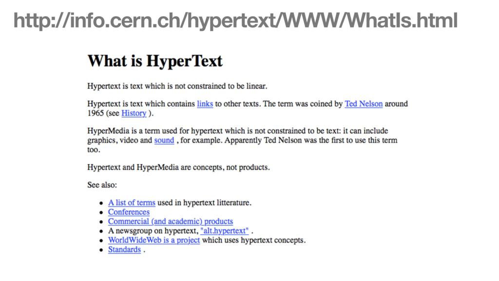 http://info.cern.ch/hypertext/WWW/WhatIs.html
