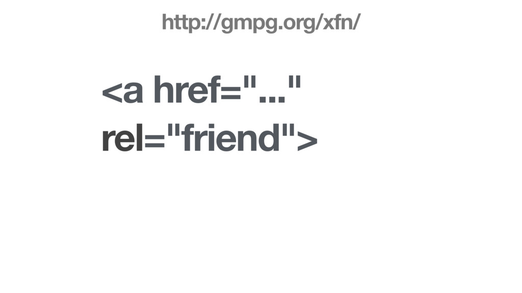 "<a href=""..."" rel=""friend""> http://gmpg.org/xfn/"