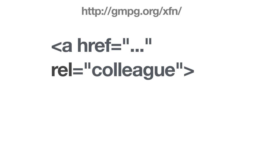 """<a href=""""..."""" rel=""""colleague""""> http://gmpg.org/..."""