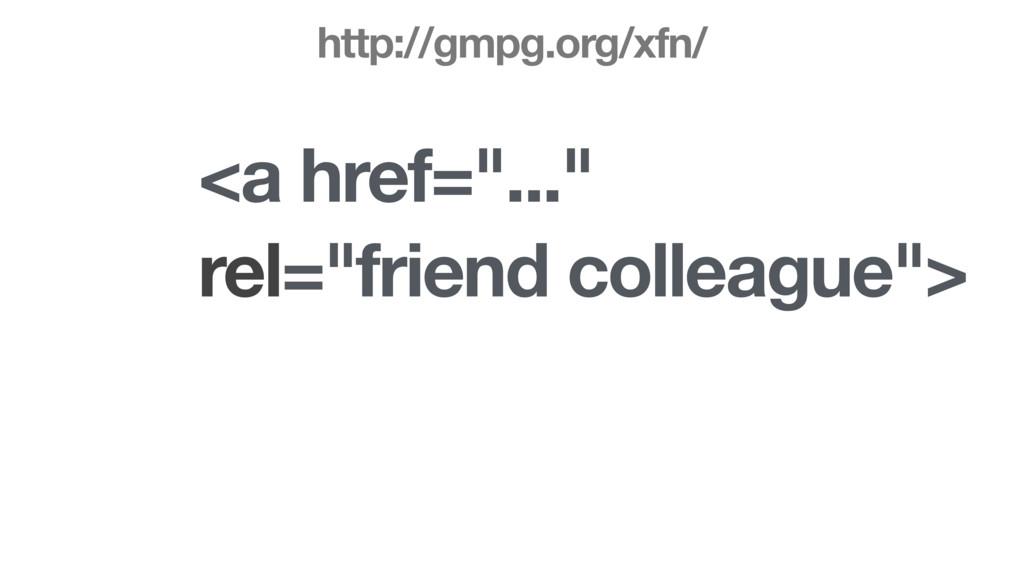 "<a href=""..."" rel=""friend colleague""> http://gm..."