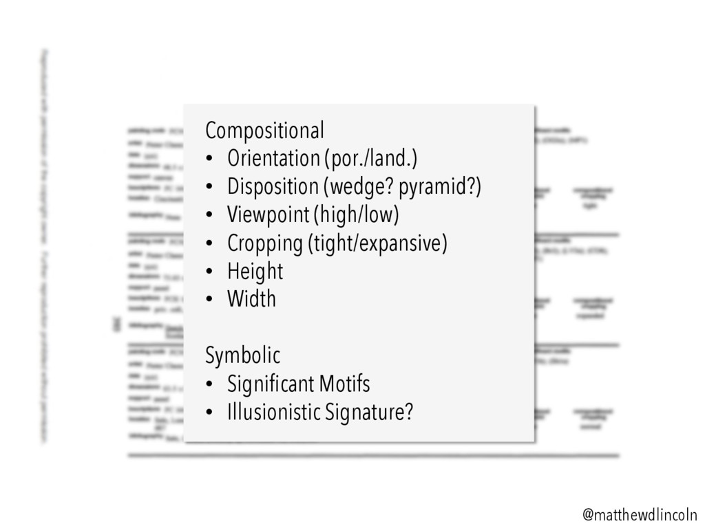 Compositional • Orientation (por./land.) • Di...