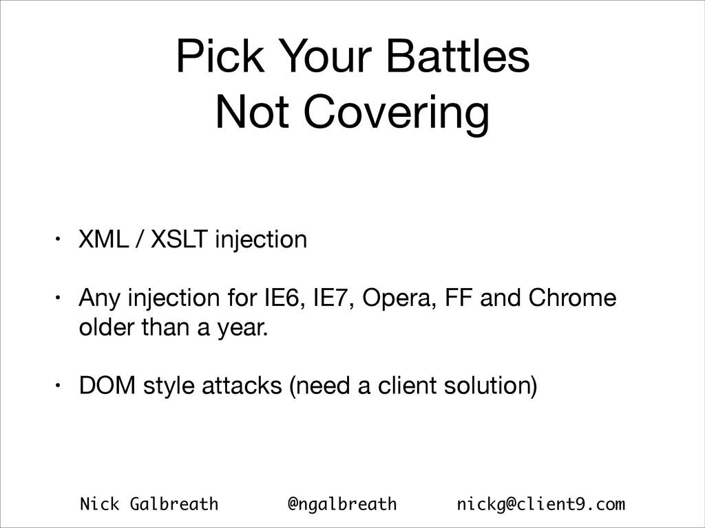 Nick Galbreath @ngalbreath nickg@client9.com Pi...
