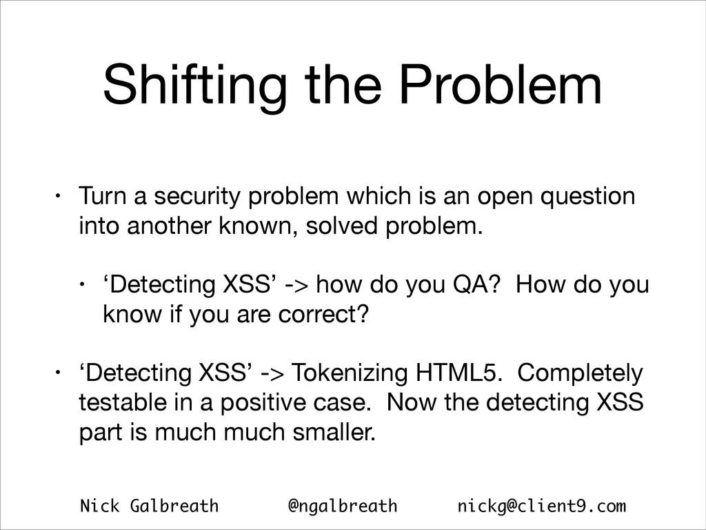 Nick Galbreath @ngalbreath nickg@client9.com Sh...