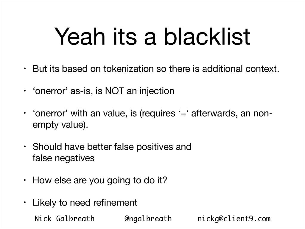 Nick Galbreath @ngalbreath nickg@client9.com Ye...