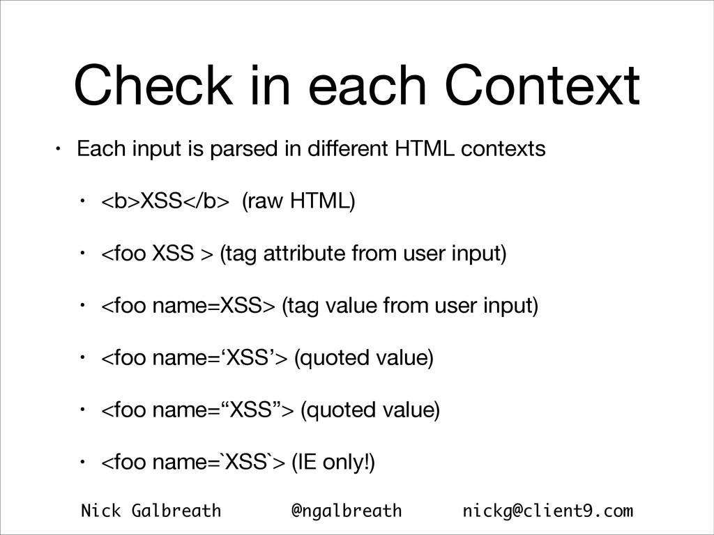 Nick Galbreath @ngalbreath nickg@client9.com Ch...