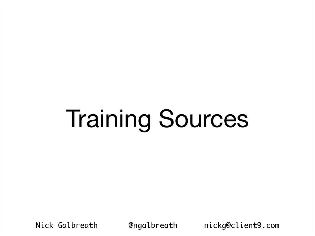 Nick Galbreath @ngalbreath nickg@client9.com Tr...
