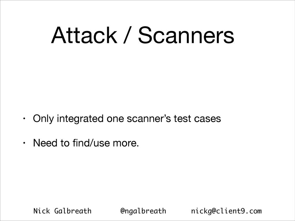 Nick Galbreath @ngalbreath nickg@client9.com At...