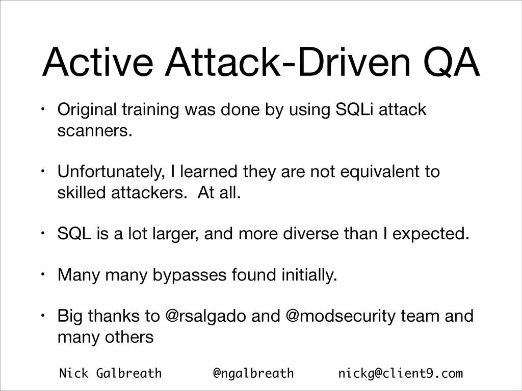 Nick Galbreath @ngalbreath nickg@client9.com Ac...