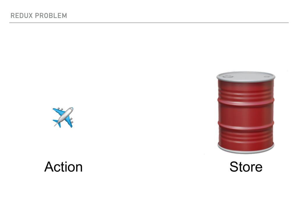 REDUX PROBLEM  Store ✈ Action