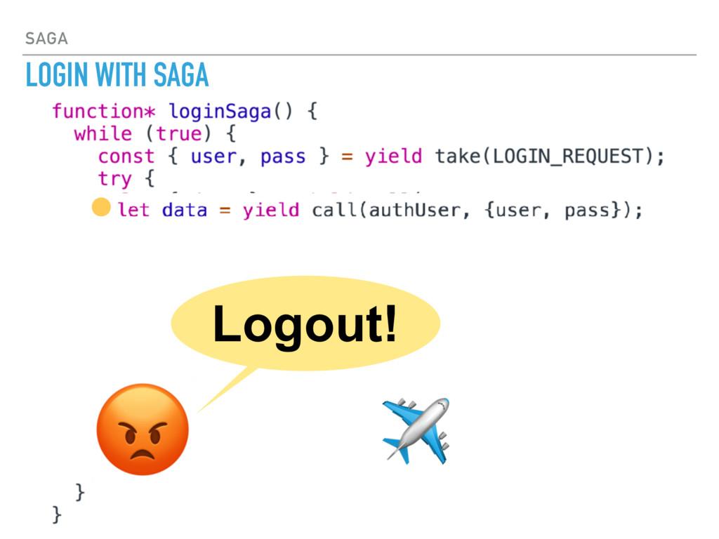 SAGA LOGIN WITH SAGA  ✈ Logout!