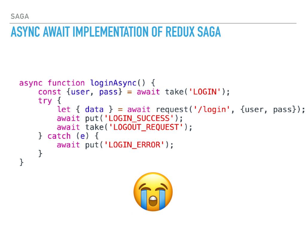 SAGA ASYNC AWAIT IMPLEMENTATION OF REDUX SAGA
