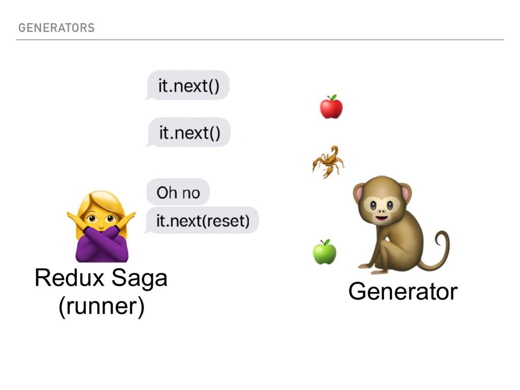 GENERATORS   Generator Redux Saga (runner)