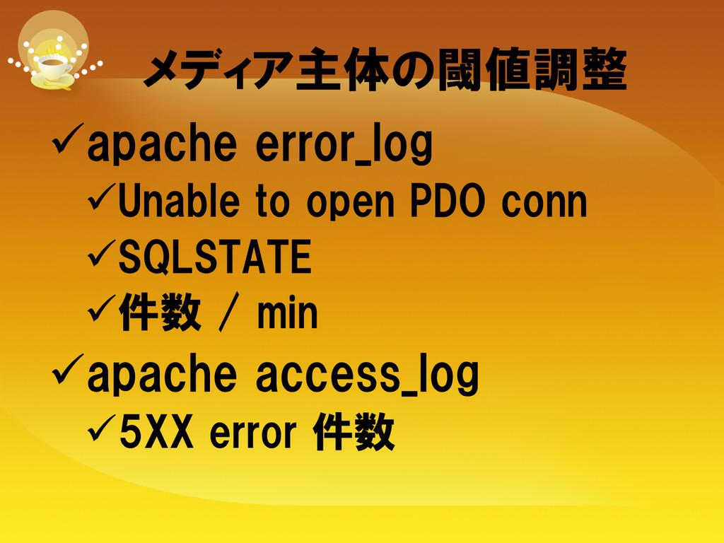 メディア主体の閾値調整 üapache error_log üUnable to ...