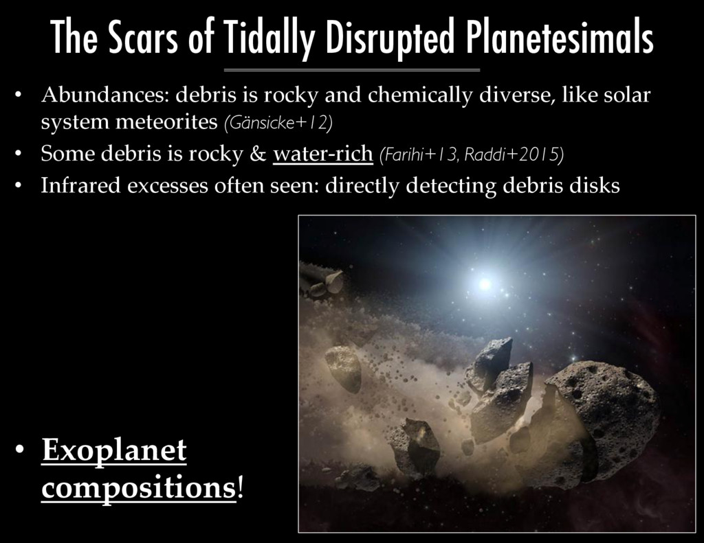 •  Abundances:  debris  is  rocky  and  chemica...