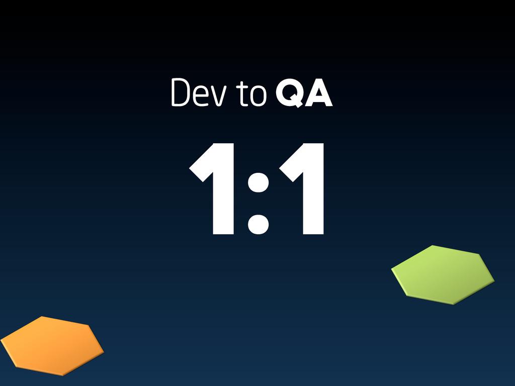 Dev to QA 1:1