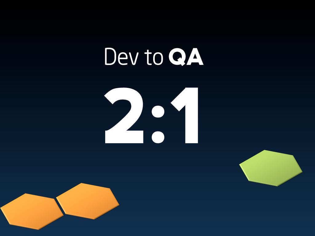 Dev to QA 2:1