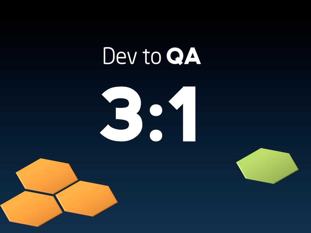 Dev to QA 3:1