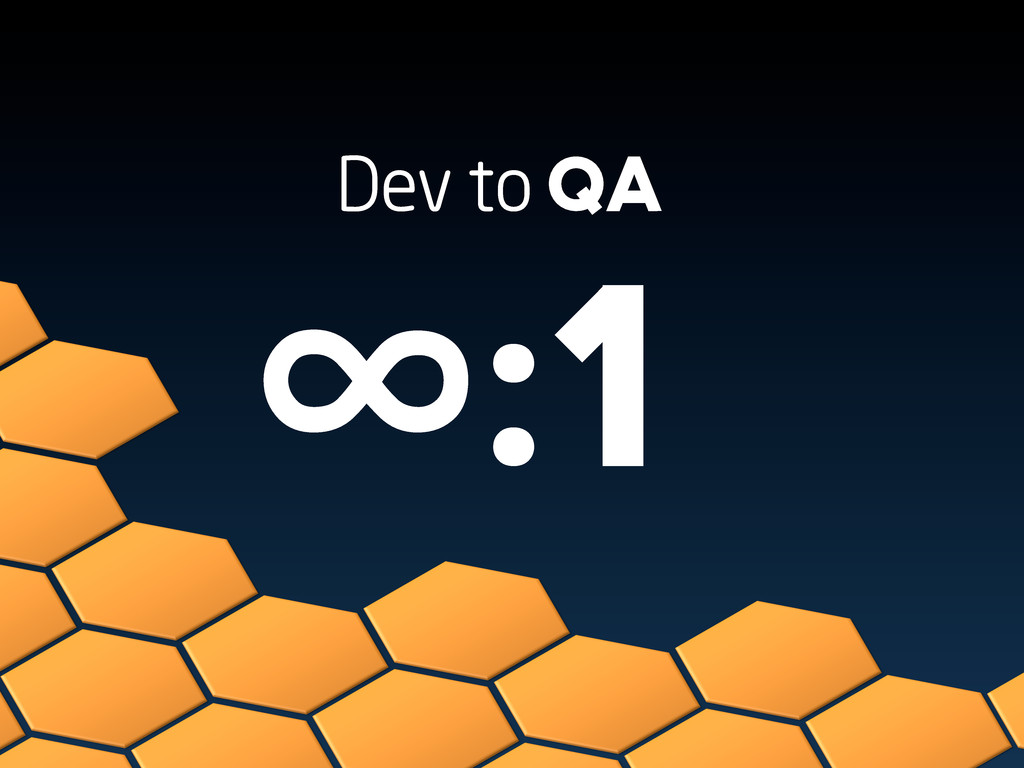 Dev to QA ∞:1