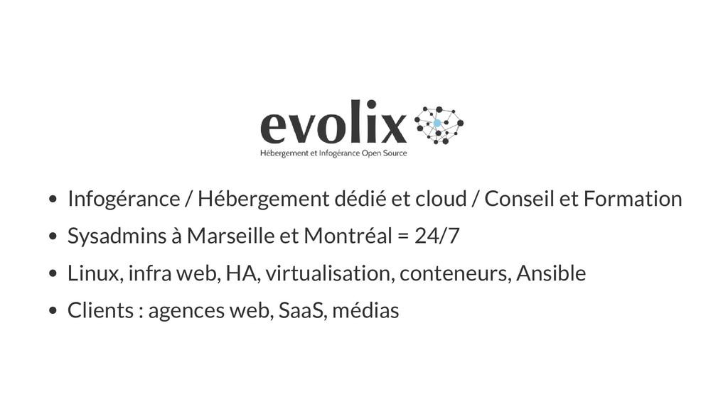 Infogérance / Hébergement dédié et cloud / Cons...