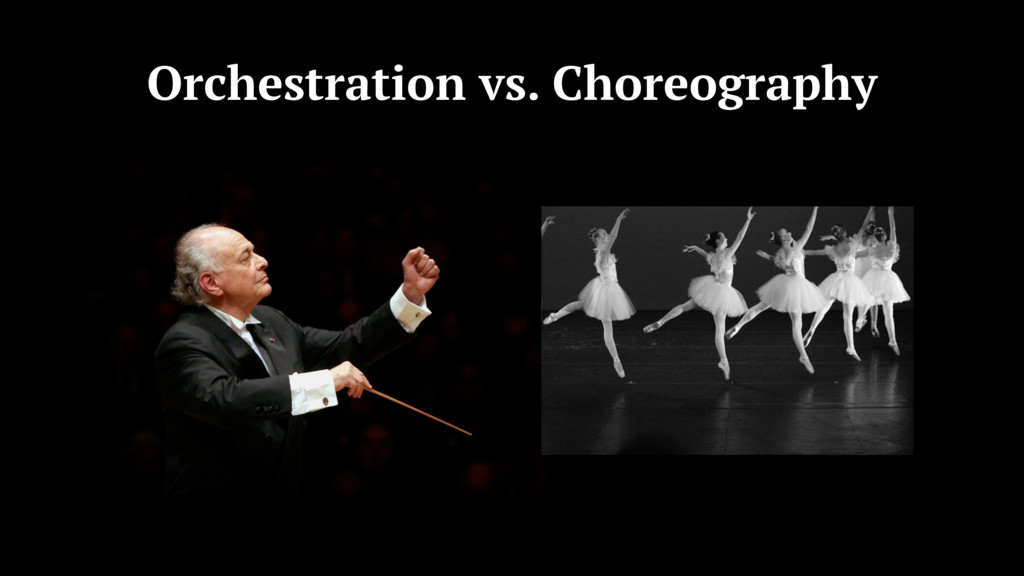 Orchestration vs. Choreography