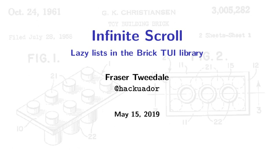 Infinite Scroll Lazy lists in the Brick TUI libr...