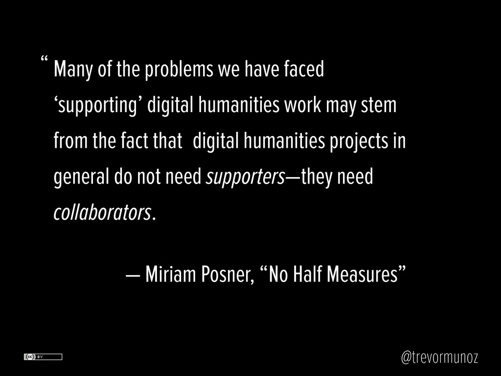 @trevormunoz Many of the problems we have faced...