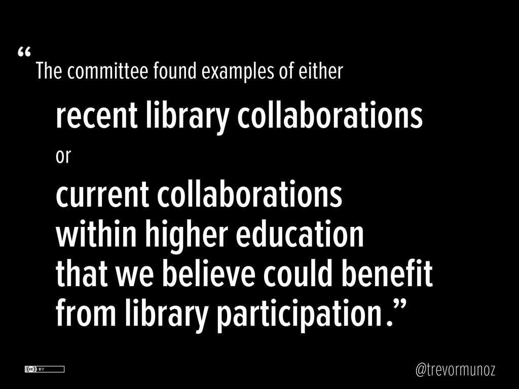 @trevormunoz The committee found examples of ei...