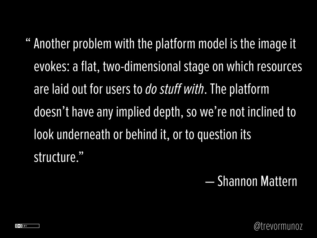 @trevormunoz Another problem with the platform ...