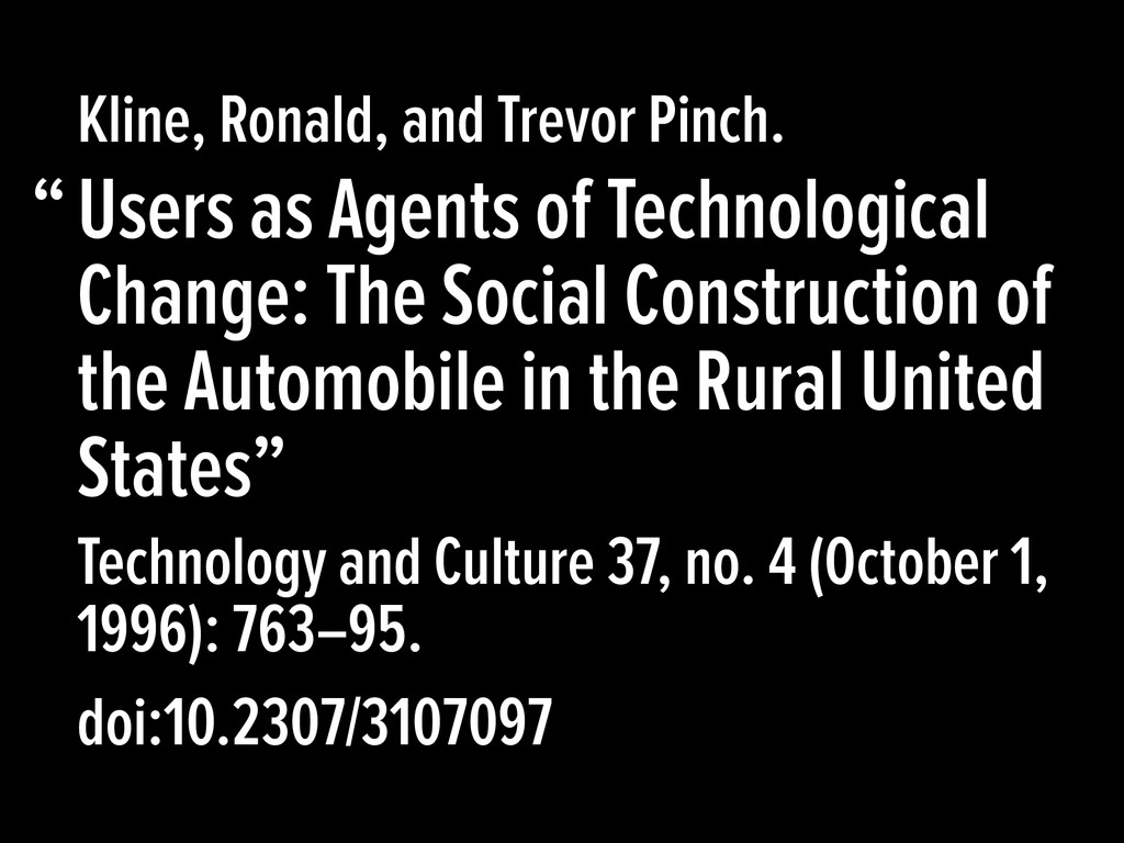 Users as Agents of Technological Change: The So...