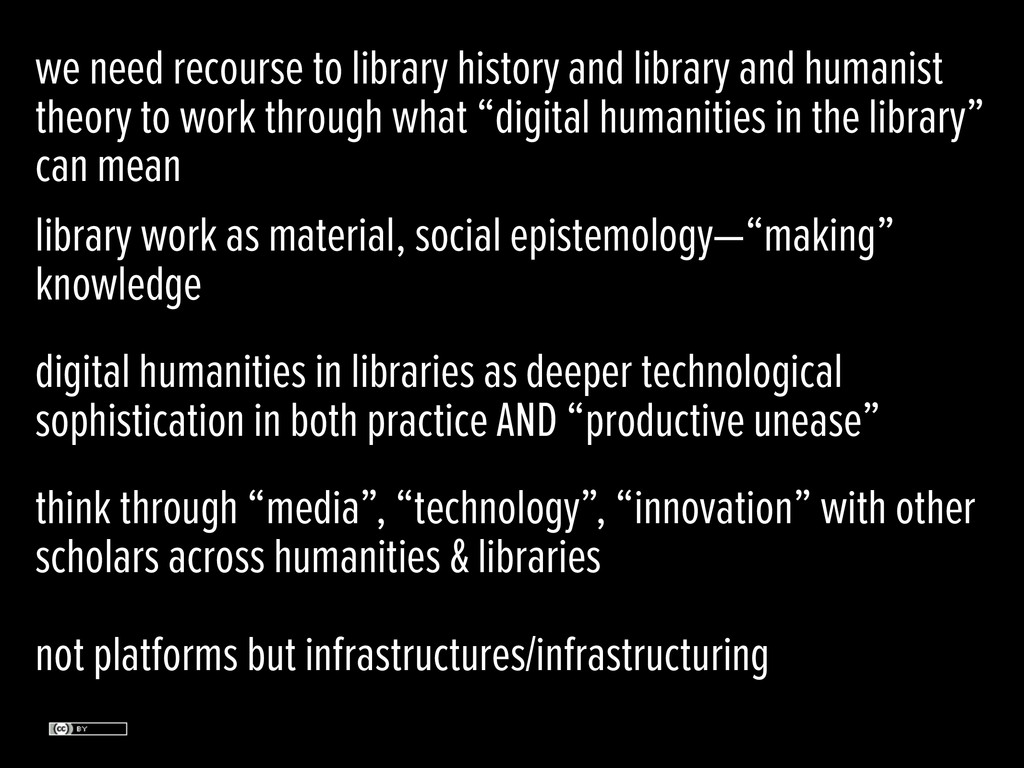 we need recourse to library history and library...