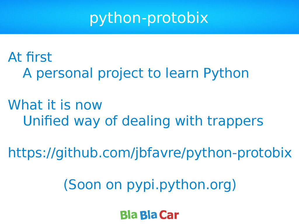 python-protobix At first A personal project to ...