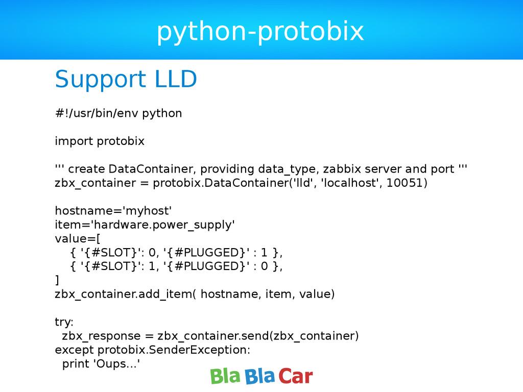 python-protobix Support LLD #!/usr/bin/env pyth...