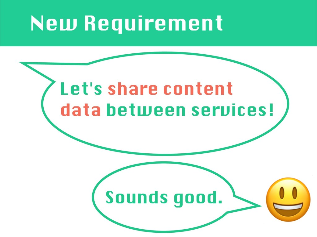New Requirement Let's share content data betwee...