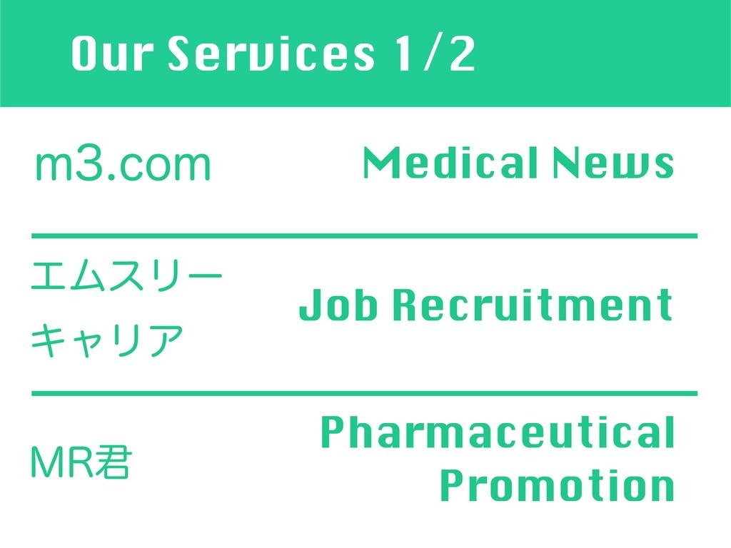 Our Services 1/2 NDPN Medical News ΤϜεϦʔ ΩϟϦ...