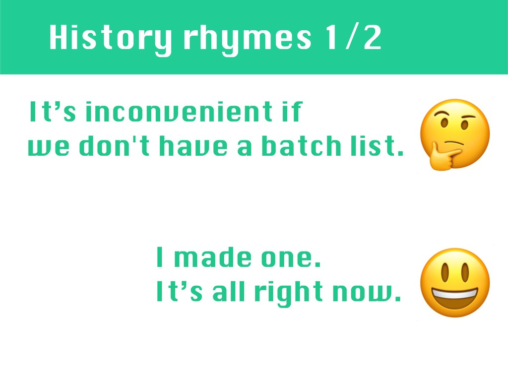 History rhymes 1/2 It's inconvenient if we don'...