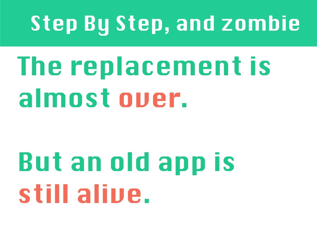 Step By Step, and zombie The replacement is alm...