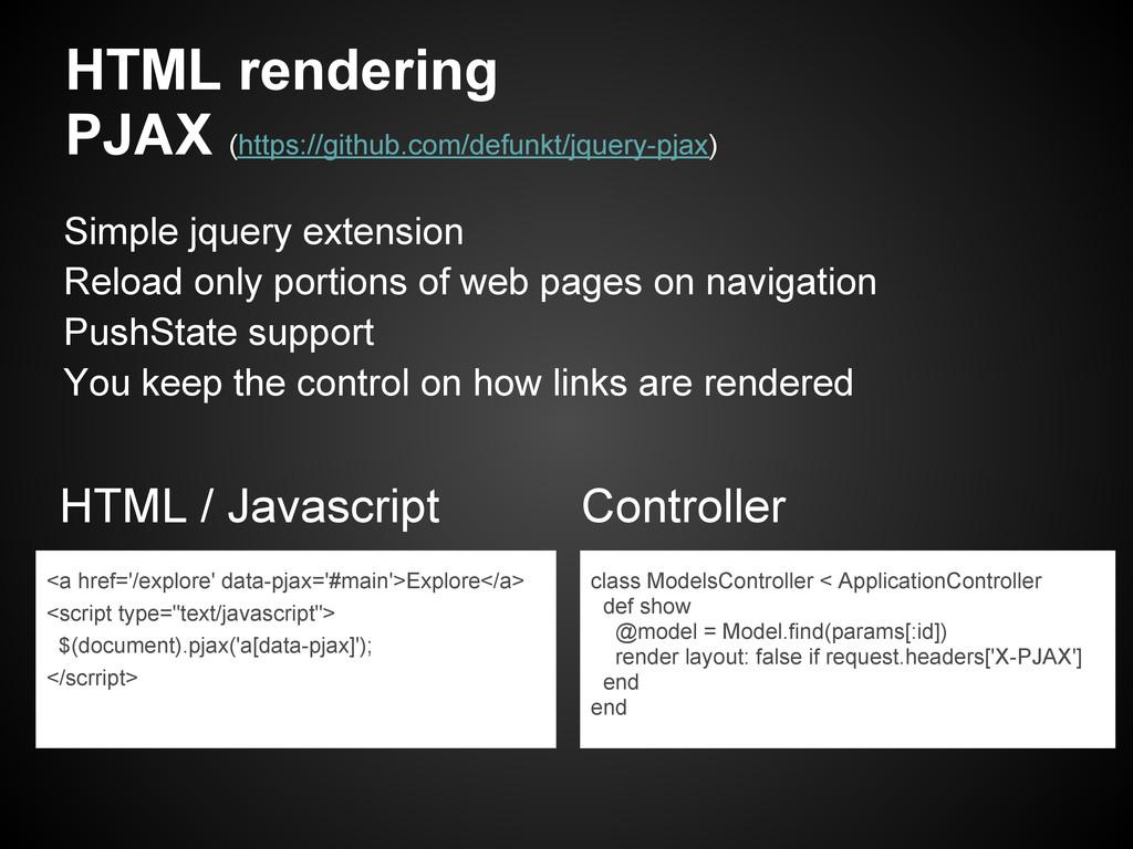 HTML rendering PJAX (https://github.com/defunkt...