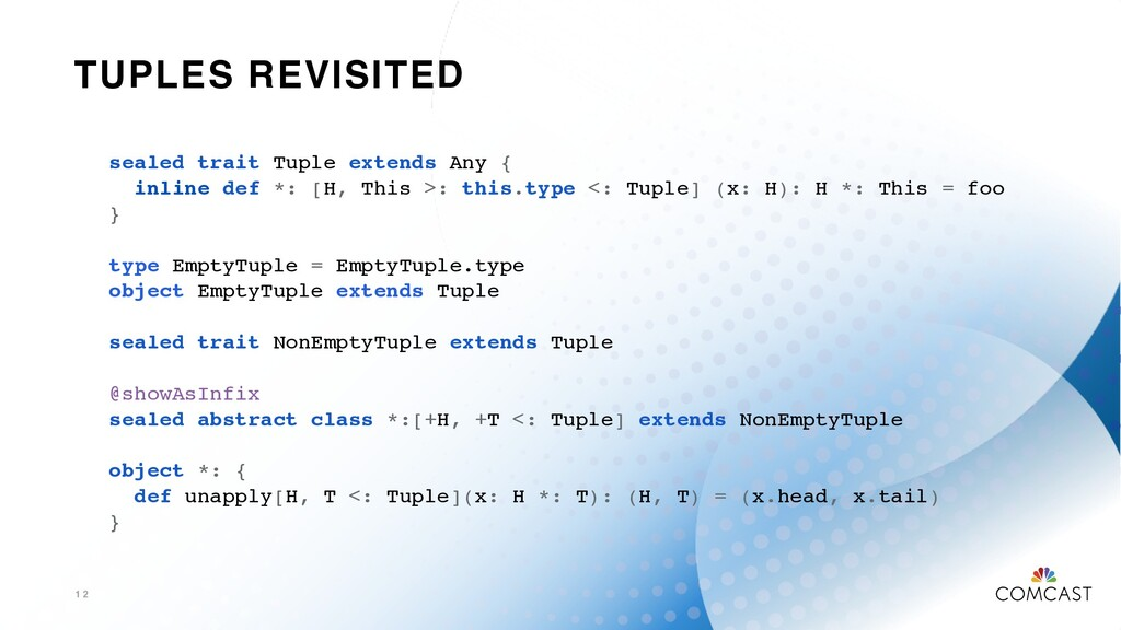 TUPLES REVISITED 1 2 sealed trait Tuple extends...