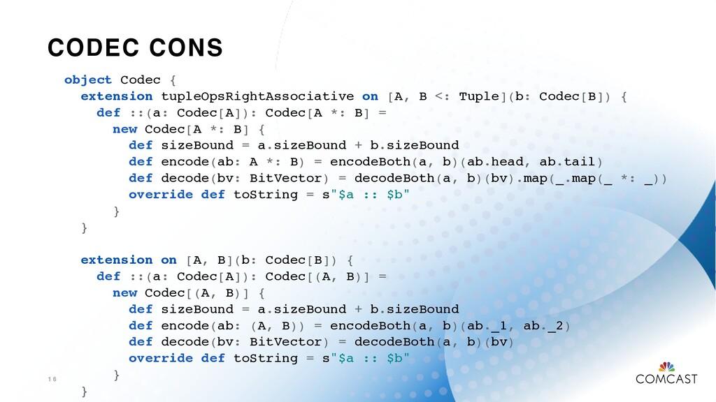 CODEC CONS 1 6 object Codec { extension tupleOp...