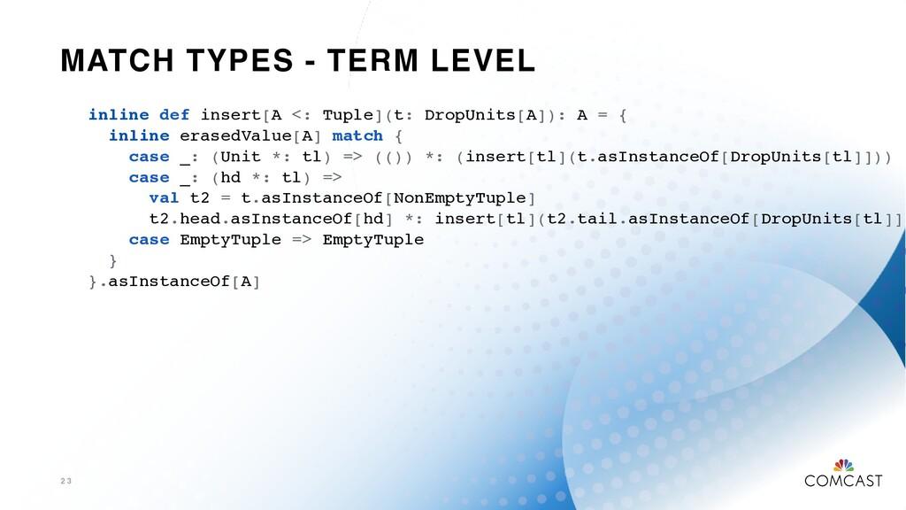 MATCH TYPES - TERM LEVEL 2 3 inline def insert[...