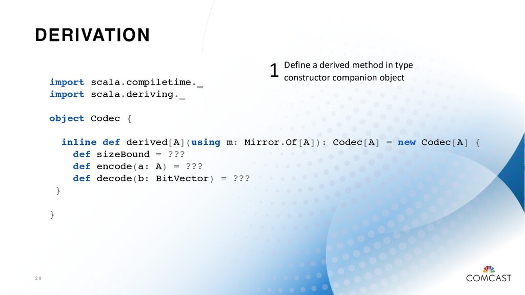 DERIVATION 2 9 import scala.compiletime._ impor...