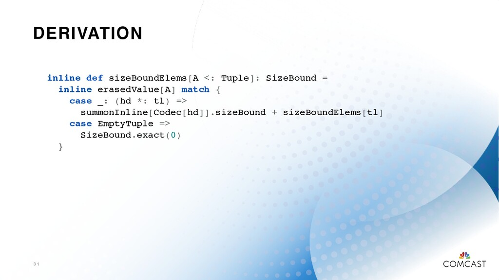 DERIVATION 3 1 inline def sizeBoundElems[A <: T...