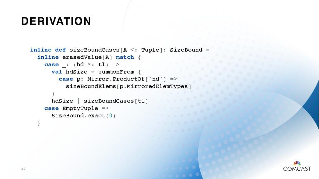 DERIVATION 3 2 inline def sizeBoundCases[A <: T...