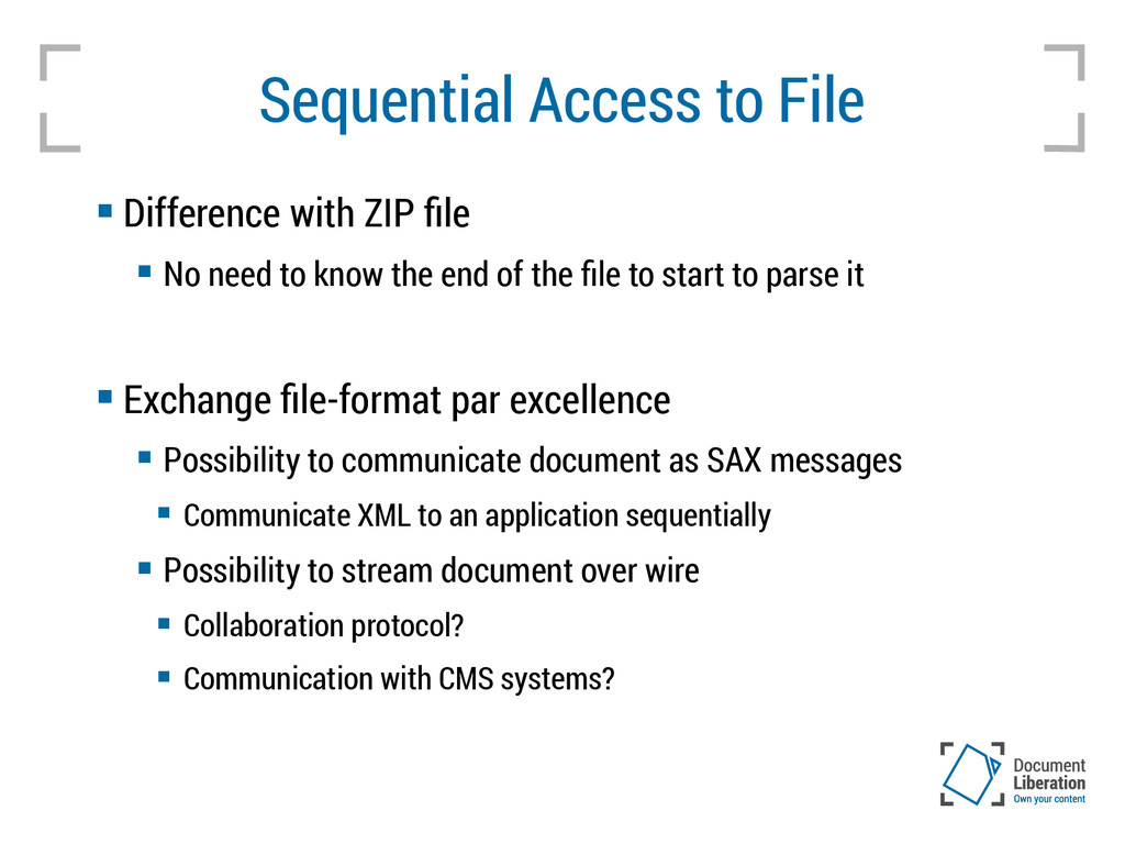 Sequential Access to File  Difference with ZIP...