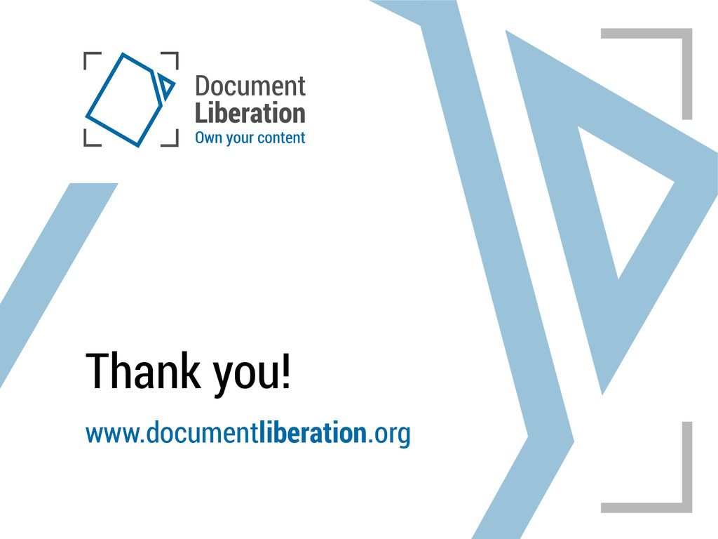 Thank you! www.documentliberation.org