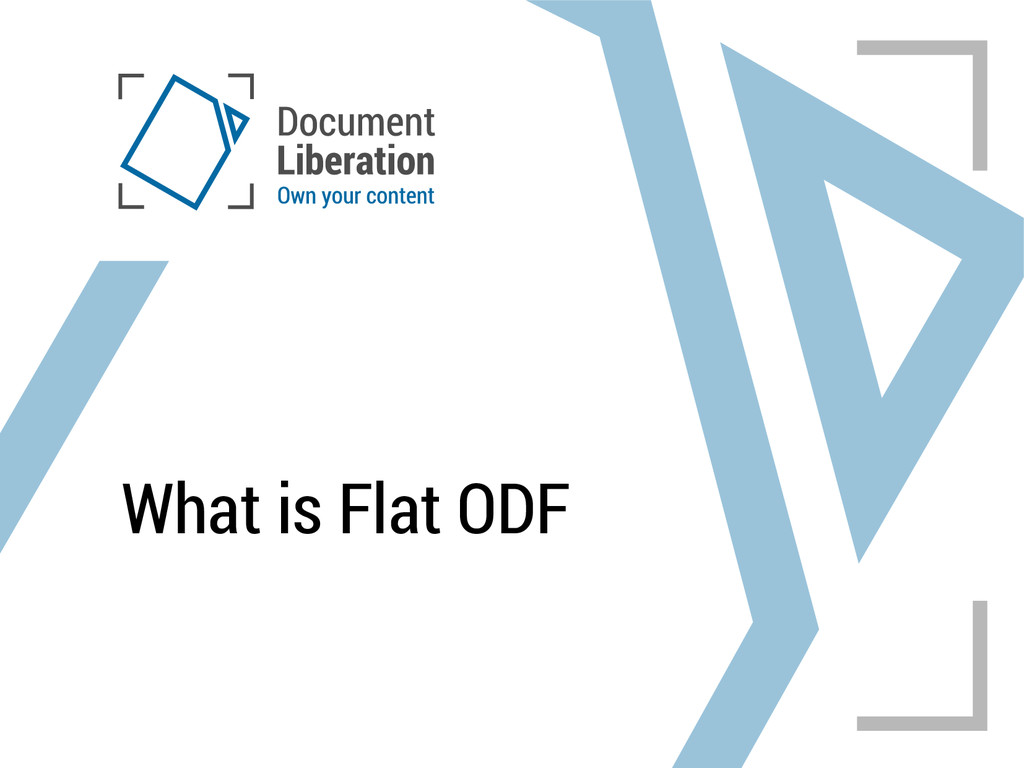 What is Flat ODF