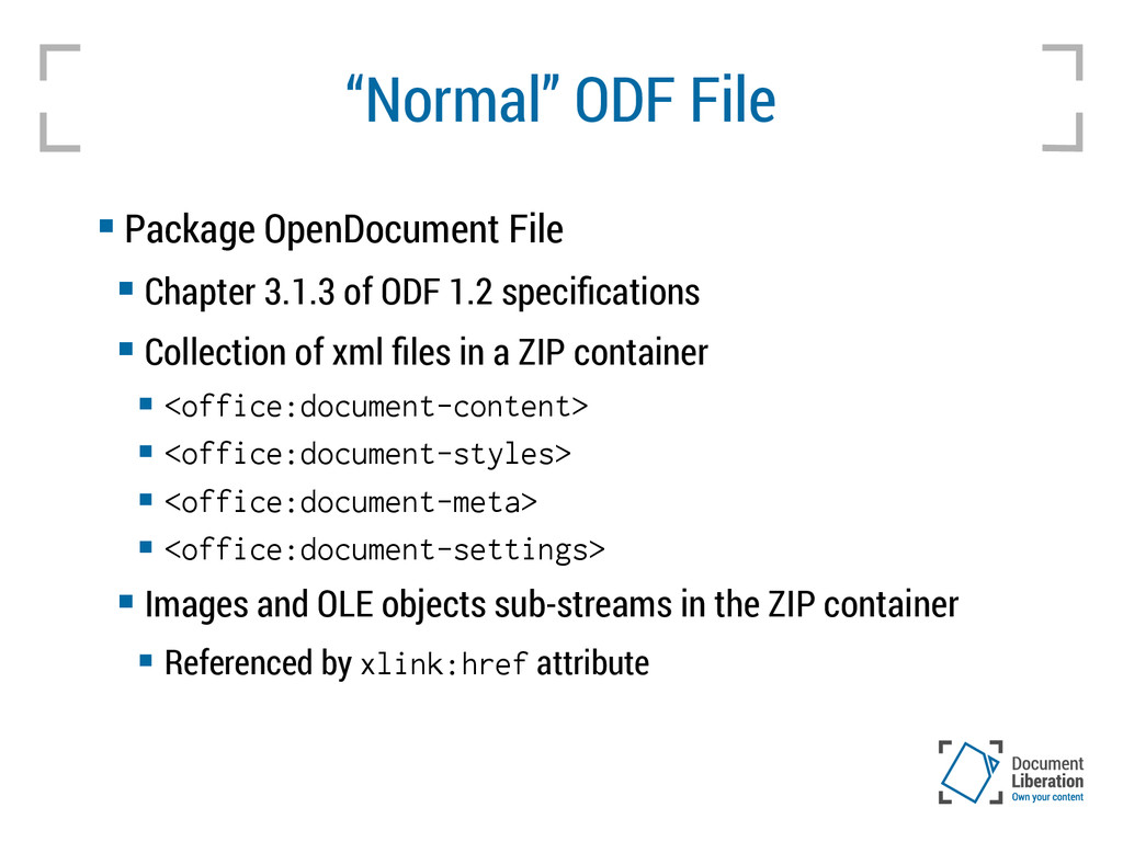 """Normal"" ODF File  Package OpenDocument File ..."