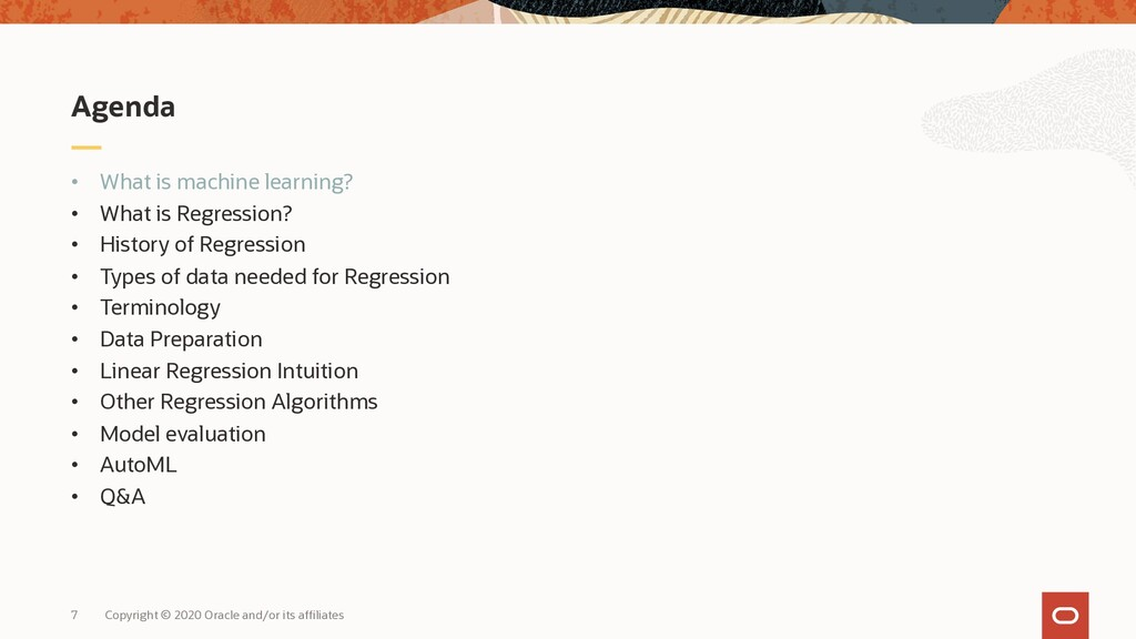 • What is machine learning? • What is Regressio...
