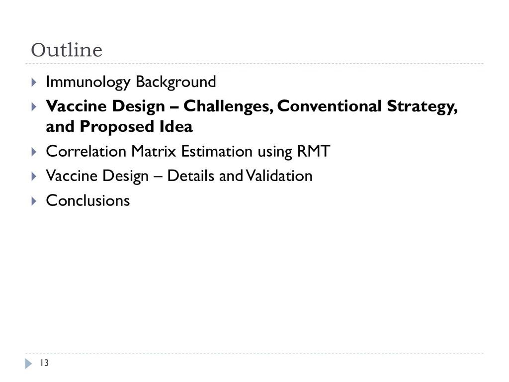Outline 13  Immunology Background  Vaccine De...
